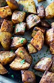 Roasted Russet Potatoes • So Damn Delish