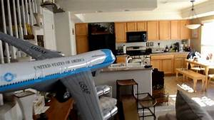 Air Force One Plane Landing on Kitchen table - YouTube