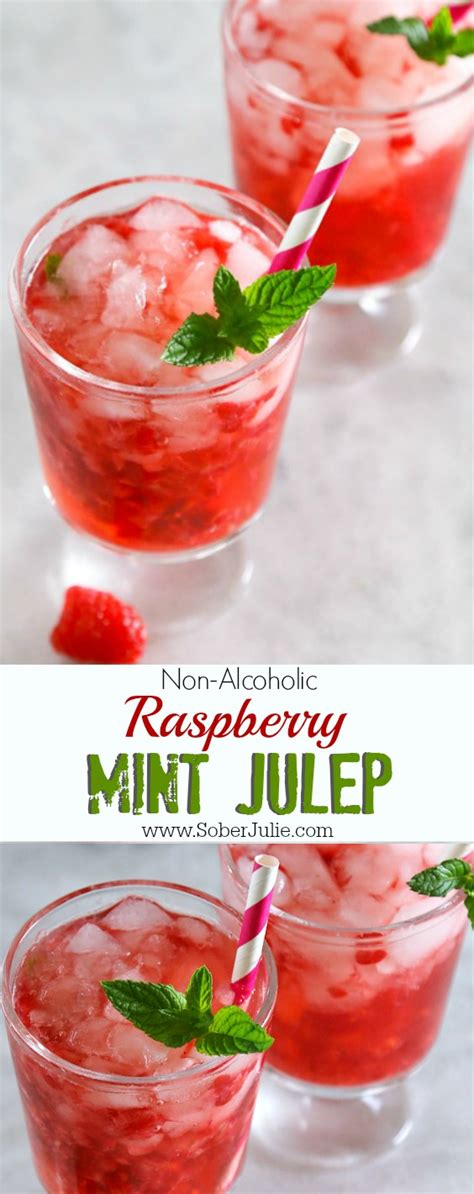 mint julep punch recipe raspberry mint julep recipe non alcoholic sober julie