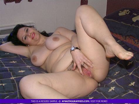 Busty Russian Granny Loves To Touch Her Naked Plump Body