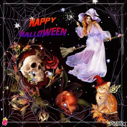 Witch Halloween Happy Flying