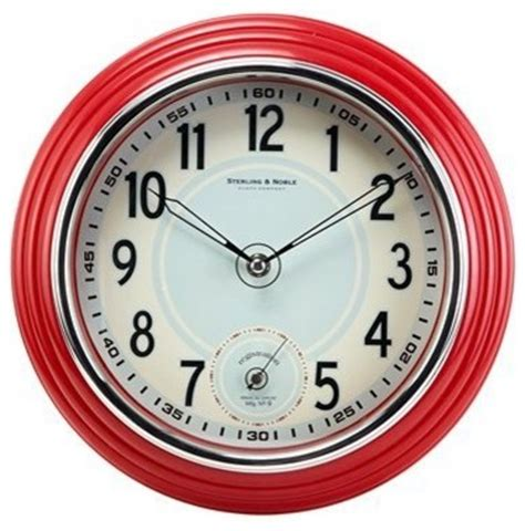 save to the uttermost retro kitchen wall clock traditional clocks by