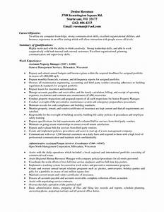 property manager resume sample project scope template With it hardware asset management resume
