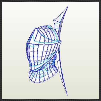 helm template papercraftsquare new paper craft souls brass helm papercraft free template