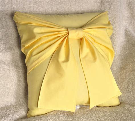 yellow decorative pillow yellow bow pillow decorative pillow