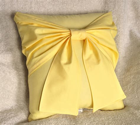 yellow accent pillows yellow bow pillow decorative pillow