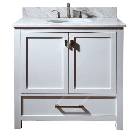 36 white vanity cabinet 36 inch single sink bathroom vanity with choice of top