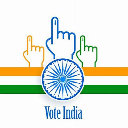 India Poster Vote Election Vector System Graphics