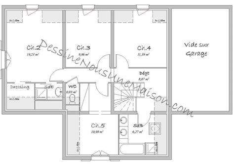plan maison à étage 3 chambres plans de maisons individuelles avec étage ou combles
