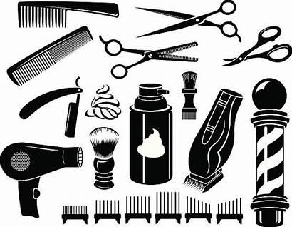 Barber Scissors Comb Tools Vector Equipment Haircutting