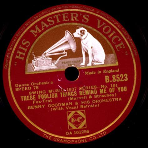 Benny Goodman & His Orch These Foolish Things
