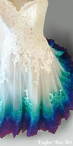 dress coloring by taylor ann art peacock wedding With ocean wedding dress