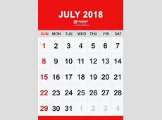 Printable July 2018 Calendar Calendar Table