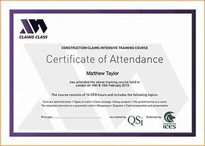 certificate of attendance seminar template - training certificate template word