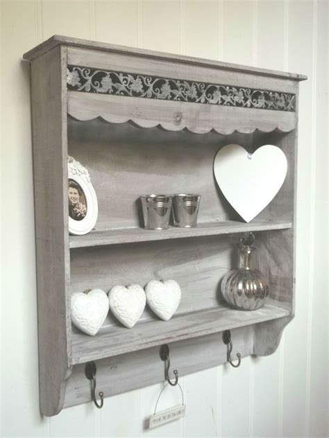 Cupboard Shelf by Shabby Chic Wall Unit Shelf Storage Cupboard Cabinet Hooks