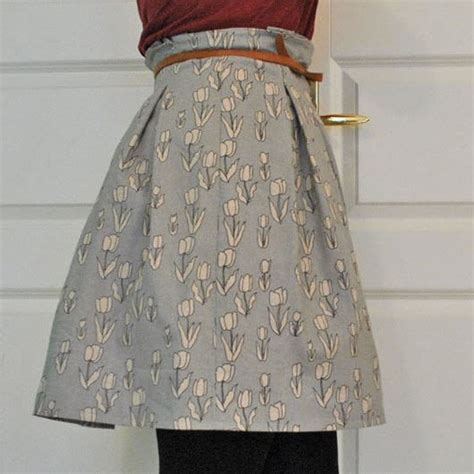 paper bag skirt tutorial     high waisted