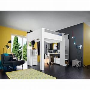Lit Enfant Haut : lit enfant haut mezzanine gautier dimix le g ant du meuble ~ Teatrodelosmanantiales.com Idées de Décoration
