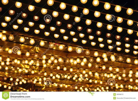 golden bulbs marquee stock photography image