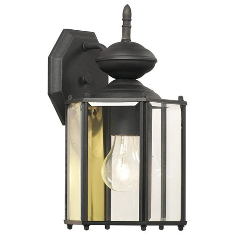 lighting brentwood 1 light black outdoor wall mount