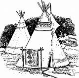 Native American Coloring Tepee Tipi Indian Drawing Domain Pages Printable Sheets Adults Sheet Lapbook Lets Study Western Clipart sketch template