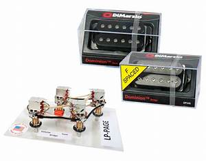 Dimarzio Dominion Humbucker Guitar Pickup Set Black Dp244