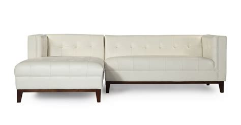chaise loft harrison modern loft sofa chaise sectional left