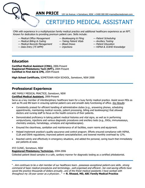 Certified Assistant Resume by Certified Assistant Resume Sle Templates At