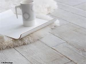 comment blanchir son parquet elle decoration With blanchir parquet chene