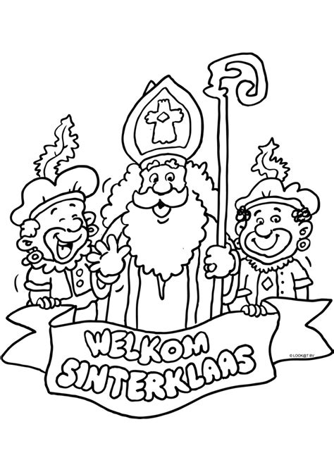Kleurplaat Sinterklaas 2016 Afdrukken welkom sinterklaas kleurplaat afdrukken