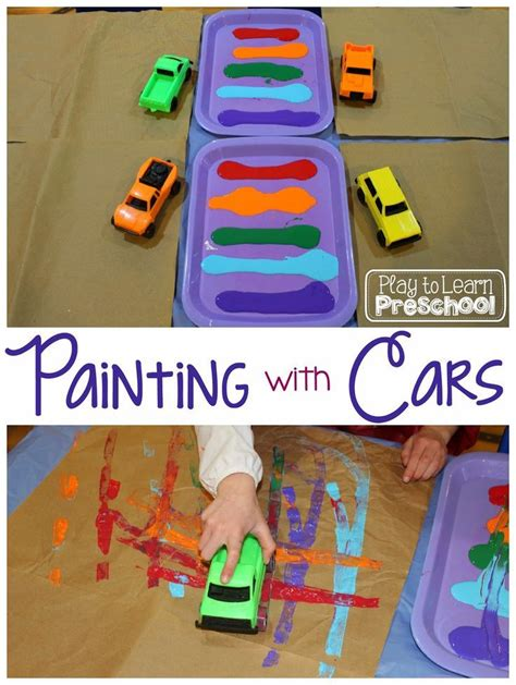 painting with cars simple prep project for toddlers 102 | 4e2ce0f9f545dbf0e3ab0416110d10e5