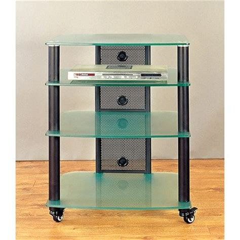 frosted glass tv cabinet 25 quot tv stand frame black glass color frosted glass