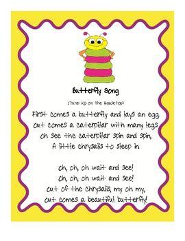 butterfly song fluency activities by carpenter tpt 697 | original 290674 1