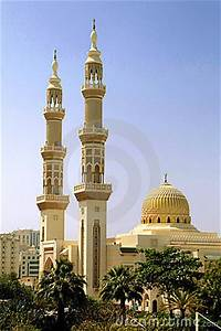 Production Management Islamic Mosque With Minarets Royalty Free Stock Image