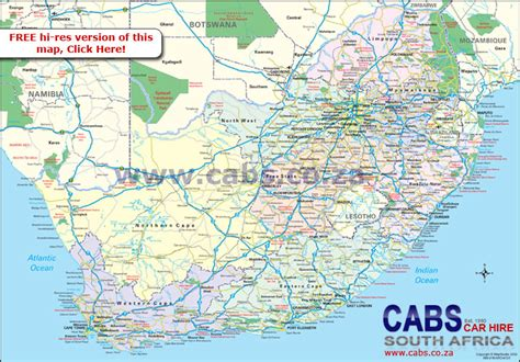 map south africa cabs car hire south africa