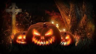 Graveyard Wallpapers Halloween Spooky Cemetery Scary Pumpkins