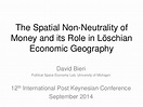 The Spatial Non-Neutrality of Money and its Role in ...