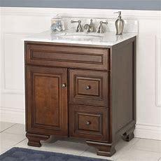 Hawthorne 30 Inch Walnut Bathroom Vanity  Burroughs