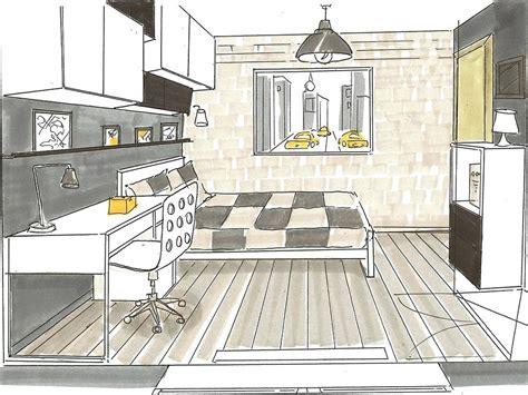 dessin en perspective d une chambre stunning chambre en perspective dessin pictures design