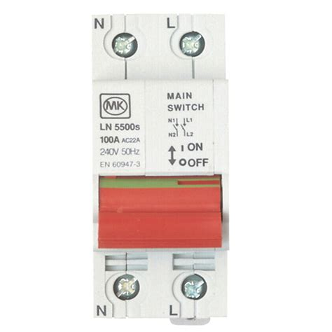 Incomer Main Switch Isolator Departments Diy
