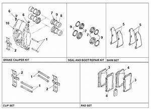 Brembo Rebuild Kit   Diagram - Evolutionm