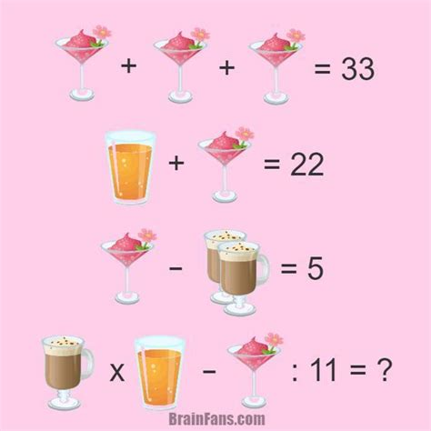 Brain Teaser Number And Math Puzzle Riddle For Genius