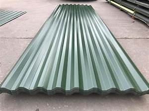 cheap box profile 26 1000 steel roofing sheets dark green With cheap tin roofing sheets