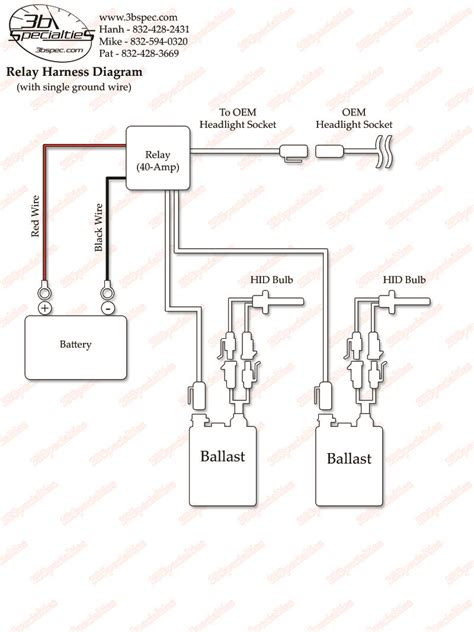 hid wiring diagram with relay 29 wiring diagram images