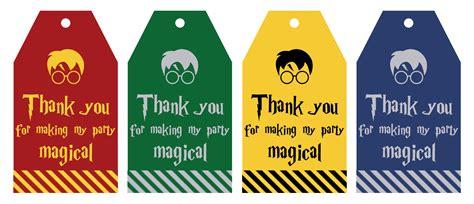 printable harry potter part favor gift tags lovely planner