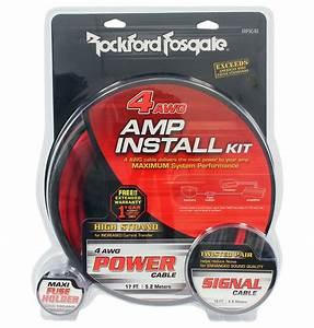 Rockford Fosgate Rfk4i 4 Gauge Amplifier  Amp Ofc Wiring