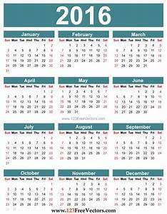 free editable 2016 calendar download free vector art free vectors With sample calendar 2016