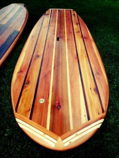 build    hollow wooden stand  paddle board wood