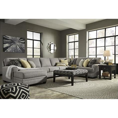 benchcraft sectional reviews 5490716 furniture cresson pewter laf corner chaise 1583
