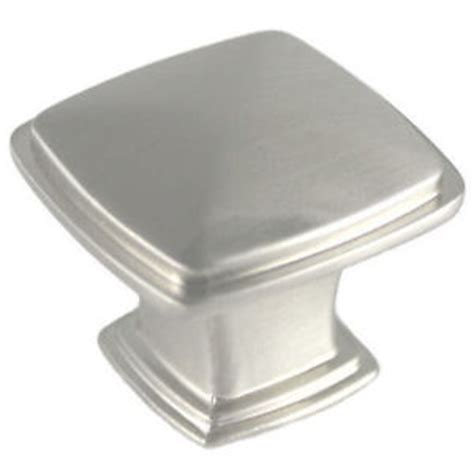 Square Nickel Cabinet Knobs by Satin Nickel Cabinet Hardware Square Knobs 4391sn Ebay