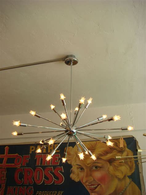 Starburst Light Fixture by Polished Chrome Sputnik Starburst Light Fixture Chandelier
